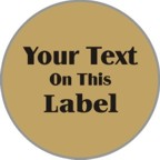 2 in. Circle Label